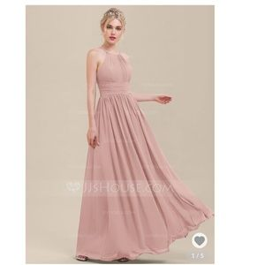 A-Line Floor-Length Chiffon Bridesmaid Dress
